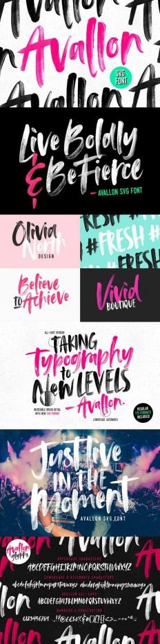 Avallon OpenType-SVG Font on Inspirationde