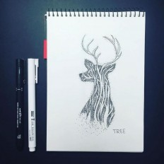 Dotwork Tattoo Sketches – Tree by Anna Sereda on Inspirationde
