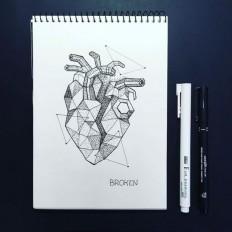 Dotwork Tattoo Sketches – Broken by by Anna Sereda on Inspirationde