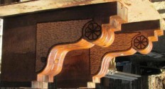 Southwest Spiral Designs/southwestern hand carved Spiral columns and corbels