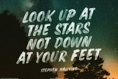 Look up at The Stars Not Down at Your Feet – Stephen Hawking on Inspirationde