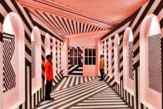 The Pink Zebra: An Eye-Popping Restaurant/Bar Inspired by the Work of Wes Anderson - Design Milk