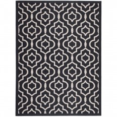 Safavieh Courtyard Black/Beige 4 ft. x 5 ft. 7 in. Indoor/Outdoor Area Rug - CY6926-266-4 - The Home Depot