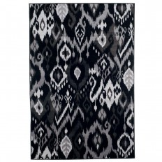 Ikat Black 3 ft. 3 in. x 5 ft. Area Rug - 62-06-335 - The Home Depot