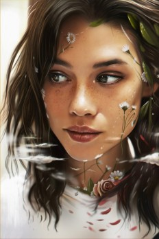 Portrait of Astrid Berges Frisbey /D.dream by vurdeM on Inspirationde