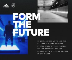 Adidas x NHL – Identity + logo design with and emphasis on sports / athletics. on Inspirationde