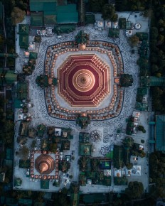 MYANMAR Temples from Above on Inspirationde