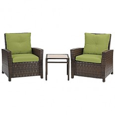 Barrington 3-Piece Wicker Club Chair Set - Bed Bath & Beyond