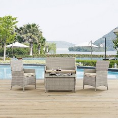 Modway Bridge 4-Piece Outdoor Patio Conversation Set - Bed Bath & Beyond
