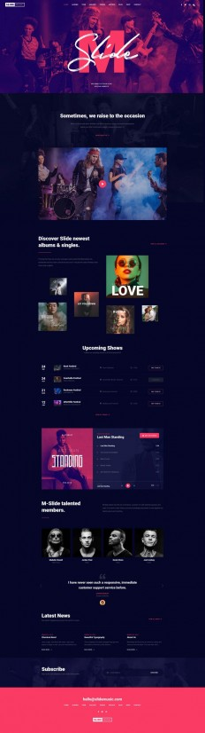 Slide – Creative Music Template on Inspirationde