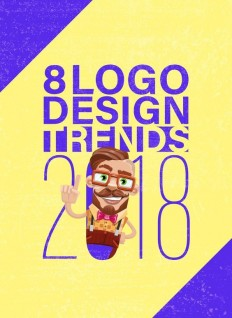 8 Logo Design Trends 2018: Stay at the Top of Your Game on Inspirationde
