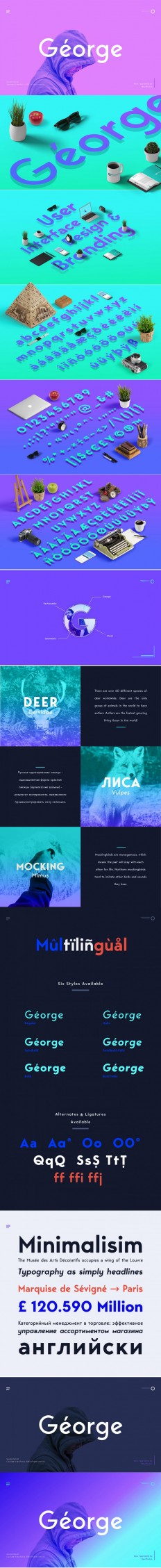 George Sans Geometric Font on Inspirationde