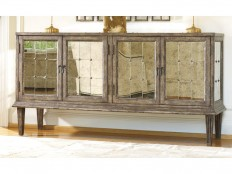 Hooker Furniture Living Room DeVera Mirrored Console 638-85082