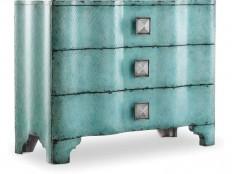 Hooker Furniture Living Room Melange Turquoise Crackle Chest 638-85016