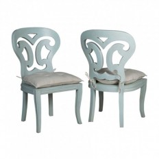 Artifacts Side Chairs In Manor Sage - Set of 2 - Accent Chairs - Chairs - Seating - Furniture