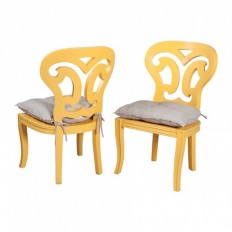 Artifacts Side Chairs In Sunflower Yellow - Set of 2 - Accent Chairs - Chairs - Seating - Furniture