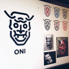 Oni Mask by @cfowlerdesign on Inspirationde