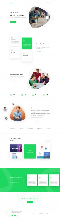 Agency Landing Page Concept by Shah Alam on Inspirationde