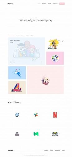 Thorium - Portfolio for Freelancers and Agencies on Inspirationde