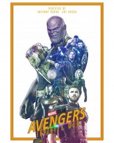 Avengers: Infinity War Poster Design on Inspirationde