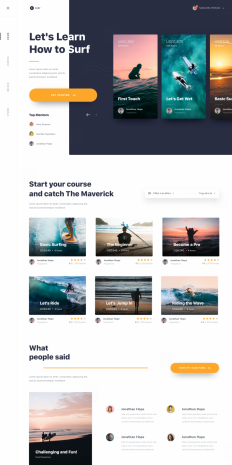 #Exploration | Website Learn to Surfing - Detail by Dwinawan on Inspirationde