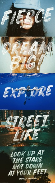 Fierce font SVG brush display type on Inspirationde