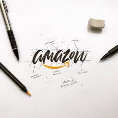Calligraphic @amazon by @luislili on Inspirationde