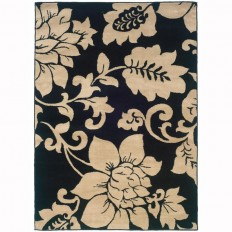 Shop Archer Lane Rutland Black Indoor Nature Area Rug (Common: 8 x 10; Actual: 7.8-ft W x 10-ft L) at Lowes.com