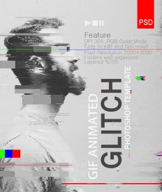 Gif Animated Glitch Effect- Photoshop Templates by safisakran on Inspirationde