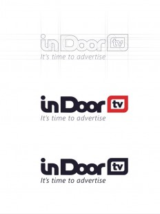 In Door TV - Process logo creating on Inspirationde