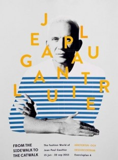 "Jean Paul Gaultier Exhibition design ""From the Sidewalk to the catwalk"" on Inspirationde"