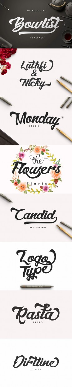 Bowlist - Logo Type by dirtylinestudio on Inspirationde