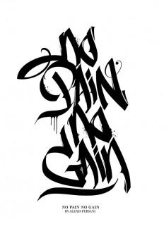 /// Black & white Calligraphy /// by Alexis Persani on Inspirationde