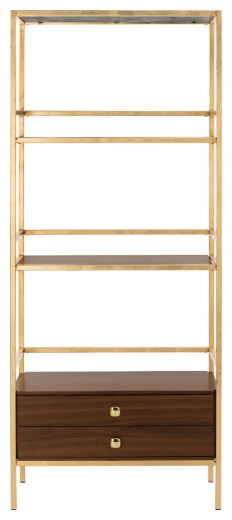 Mateo 4 Tier 1 Drawer Etagere - Transitional - Bookcases - by HedgeApple