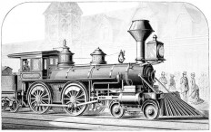 American Locomotive – Old Book Illustrations