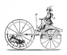 Dog-Powered Vehicle – Old Book Illustrations