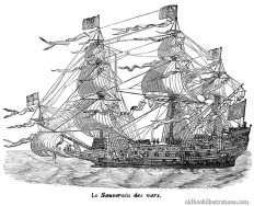 HMS Sovereign of the Seas – Old Book Illustrations