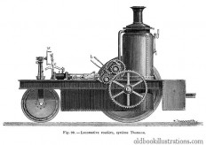 Thomson Road Steamer – Old Book Illustrations