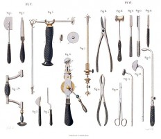 Instruments Required for Resections – Old Book Illustrations