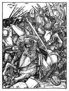Baron Frederick Ran Me Down – Old Book Illustrations
