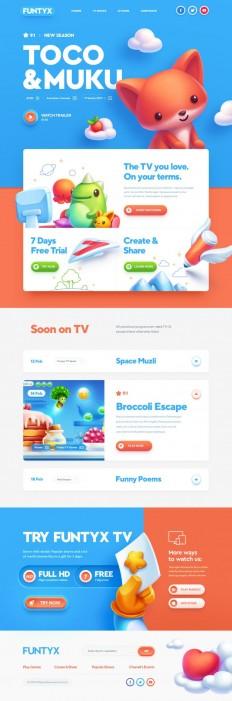 Website design: Best for Kids! on Inspirationde