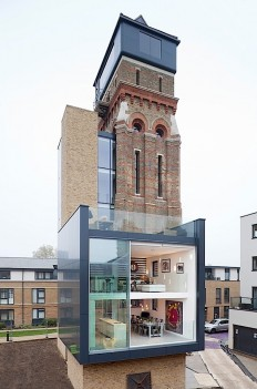 Old water tower with small extensions on Inspirationde