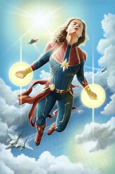 Captain Marvel alternative movie poster on Inspirationde