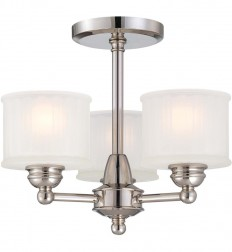 Minka-Lavery - 1730 Series 3 Light Semi Flush Mount | Lamps.com