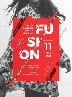Fusion - Modern and Creative Poster on Inspirationde