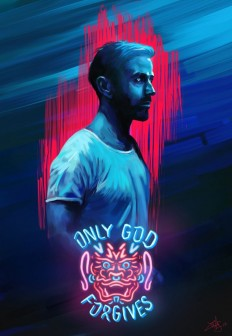 Alternative movie poster - Only God Forgives D painting on Inspirationde