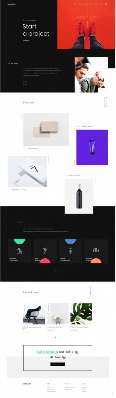Uranium - Creative Portfolio on Inspirationde