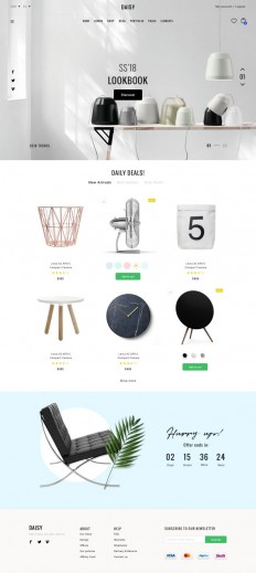 DAISY – Elegant eCommerce SKETCH on Inspirationde