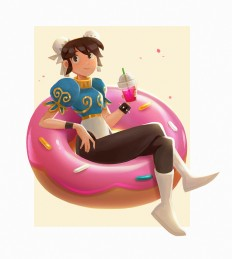 ArtStation - Chun Li - Street Fighter Character Design Challenge, Rachel Christin
