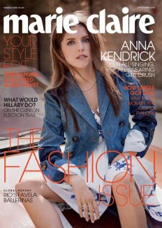 Anna Kendrick is a Fashion Plate in Marie Claire UK on Inspirationde